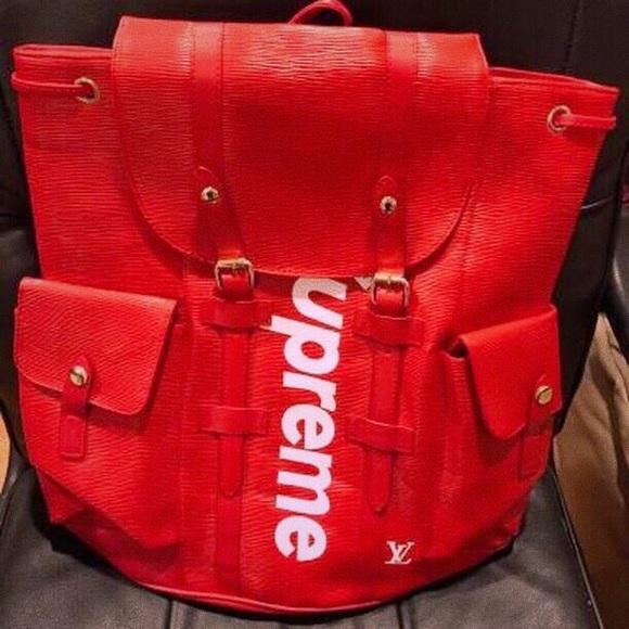 94c4279dacf Louis Vuitton Bags | X Supreme Epi Christopher Backpack | Poshmark